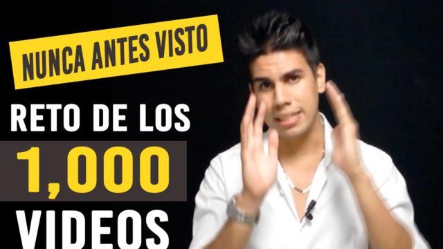 (NUNCA ANTES VISTO) Reto de los 1,000 Videos